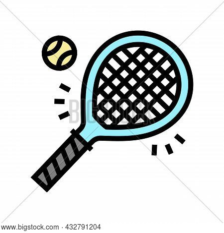 Tennis Sport Game Color Icon Vector. Tennis Sport Game Sign. Isolated Symbol Illustration