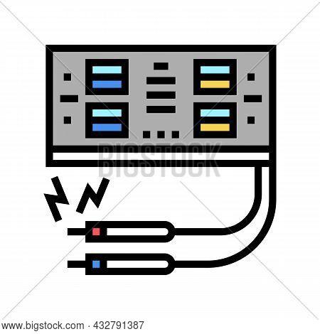 Electrosurgery Hospital Electronic Equipment Color Icon Vector. Electrosurgery Hospital Electronic E