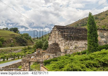 A Small, Ancient Temple In A High-mountain Village