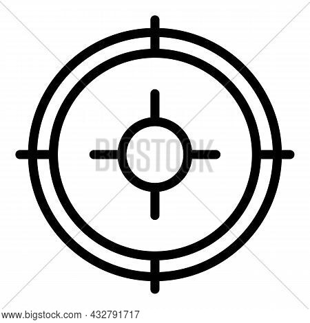 Specific Focus Icon Outline Vector. Customer Target. Business Concentrate