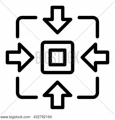 Task Concentration Icon Outline Vector. Mind Work. Strategy Support