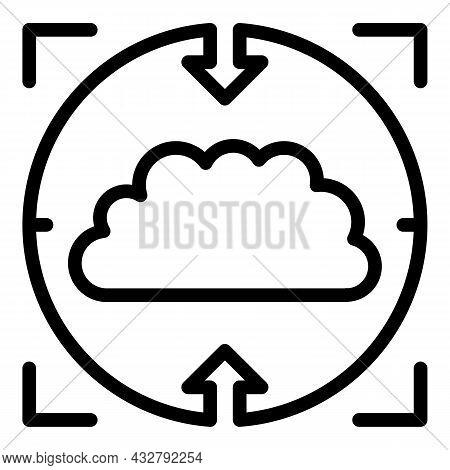 Cognitive Concentration Icon Outline Vector. Brain Development. Mental Abilities