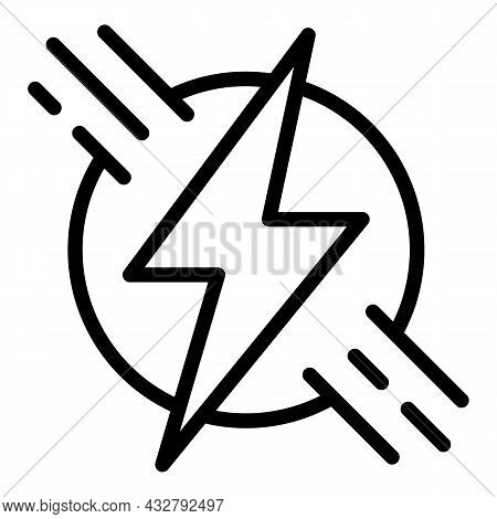 Productivity Energy Icon Outline Vector. Productive Work. Effective Brain