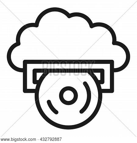 Memory Disc Icon Outline Vector. Computer Disk. Hardware Storage
