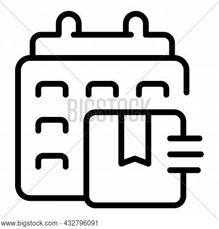 Delivery Service Icon Outline Vector. Order Shipment. Cargo Transport