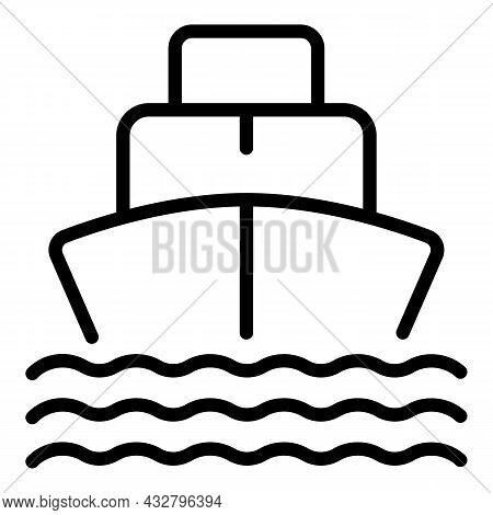 Sea Shipment Icon Outline Vector. Cargo Ship. Marine Delivery