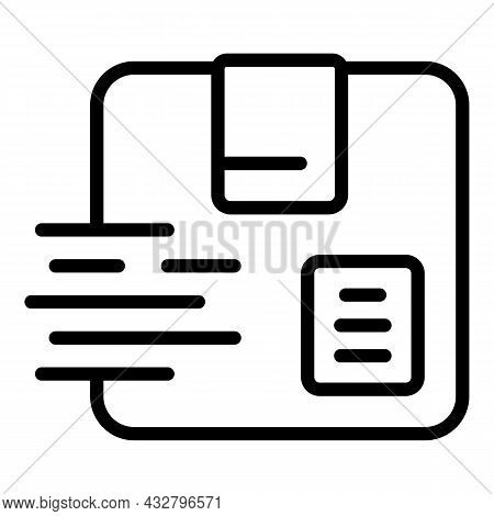 Fast Delivery Icon Outline Vector. Express Order. Shipment Service