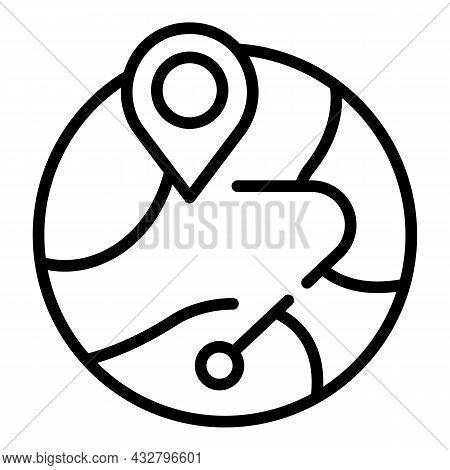 Global Delivery Icon Outline Vector. Shipment Service. Package Transport