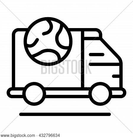 Worldwide Shipping Icon Outline Vector. Ship Delivery. Export Cargo