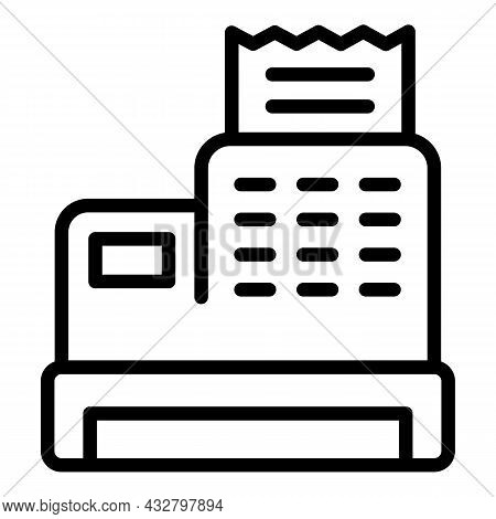 Cashier Machine Icon Outline Vector. Cash Payment. Shopping Scanner