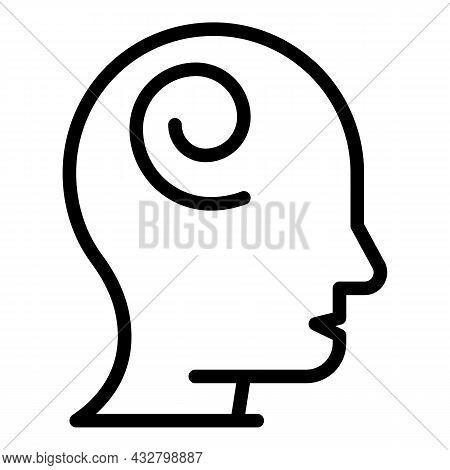 Dizzy Confused Icon Outline Vector. Vertigo Motion. Anxiety Stress