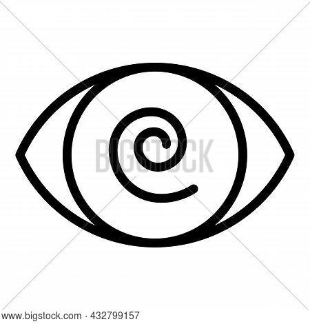 Dizzy Eye Icon Outline Vector. Head Sick. Fatigue Feeling