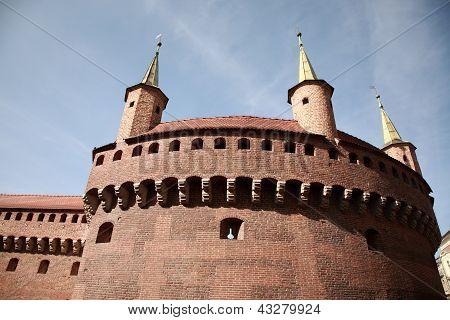 Brama Florianska, Gate Of The Medieval Krakow