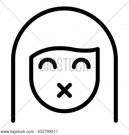 Avoid People Icon Outline Vector. Virus Safety. Social Spread