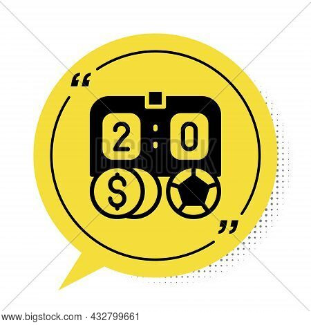 Black Soccer Football Betting Money Icon Isolated On White Background. Football Bet Bookmaker. Socce