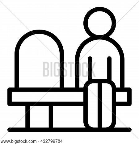 Seat Distance Icon Outline Vector. Avoid People. Public Chair
