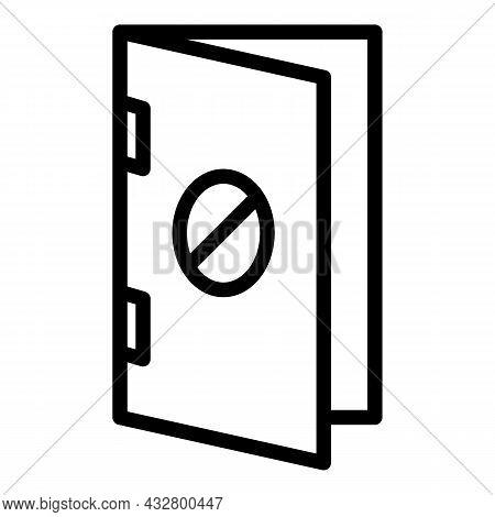 No Entry Door Icon Outline Vector. Restricted Area. Forbidden Access