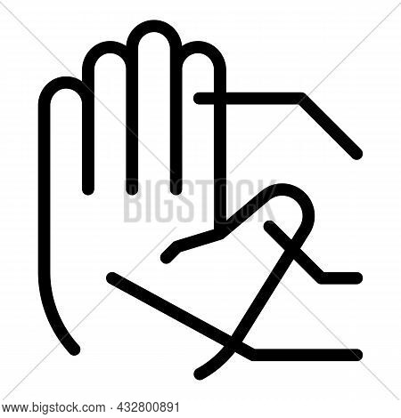 Palm Recognition Icon Outline Vector. Biometric Scan. Access Security