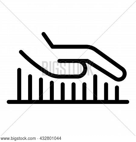 Security Palm Scanner Icon Outline Vector. Biometric Recognition. Hand Identification