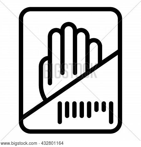 Hand Recognition Icon Outline Vector. Biometric Scan. Sensor Identification