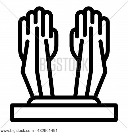 Privacy Palm Recognition Icon Outline Vector. Biometric Scan. Identity Identification