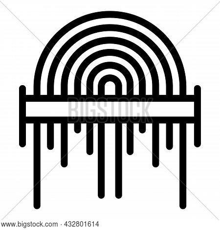 Fingerprint Scanning Icon Outline Vector. Finger Scan. Touch Access