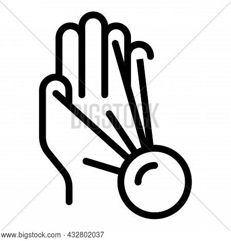 Sensor Palm Scanning Icon Outline Vector. Biometric Scan. Hand Recognition