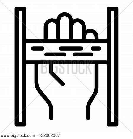 Security Palm Recognition Icon Outline Vector. Biometric Scan. Id Verification