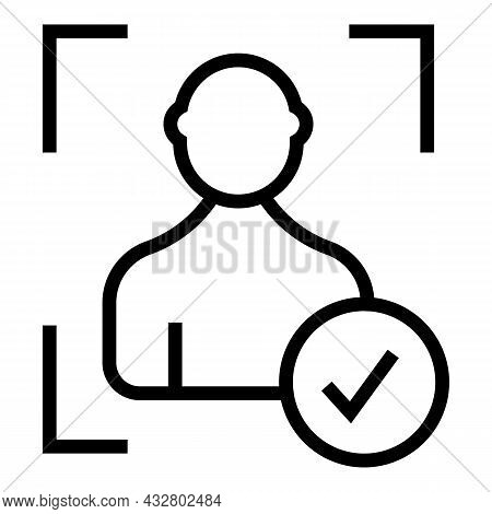 Biometric Identification Icon Outline Vector. Handwriting Recognition. Scan Finger