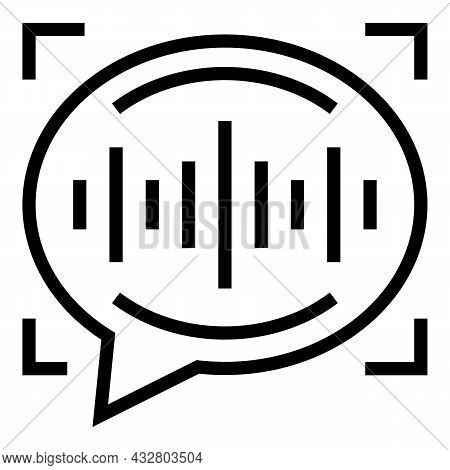 Voice Recognition Scan Icon Outline Vector. Detect Sound. Audio Command