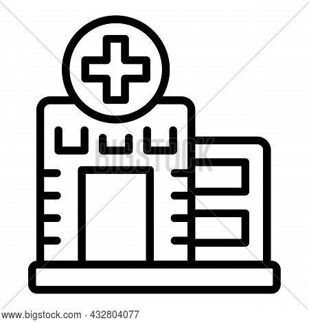 Chemical Laboratory Icon Outline Vector. Lab Chemistry. Science Test