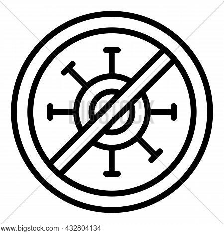 Anti Virus Icon Outline Vector. Kill Bacteria. Infection Free