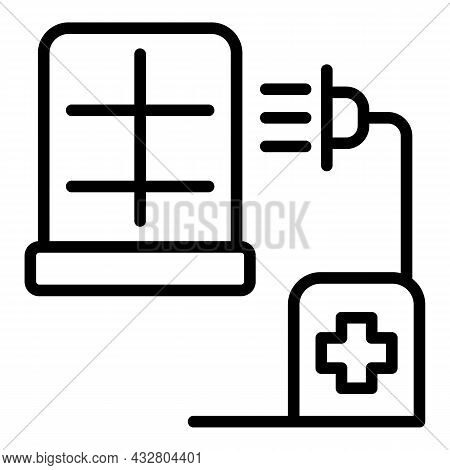 Chemical Disinfection Icon Outline Vector. Spray Disinfect. Cleaning Control