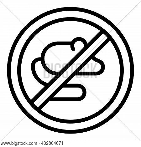 Anti Rat Icon Outline Vector. Control Rodent. Pest Mouse