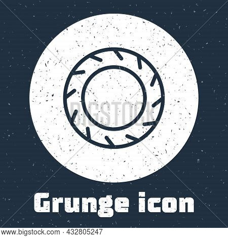Grunge Line Bicycle Wheel Tire Icon Isolated On Grey Background. Bike Race. Extreme Sport. Sport Equ