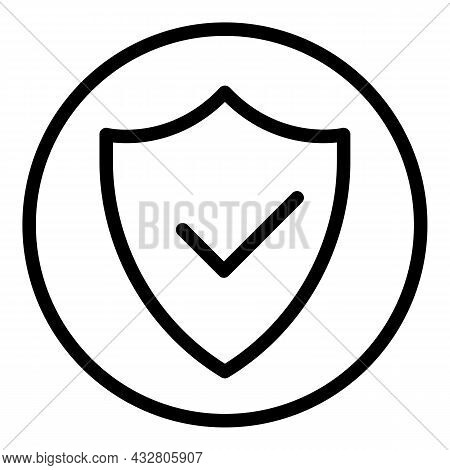 Shield Active Protection Icon Outline Vector. Safety System. Protect Guard
