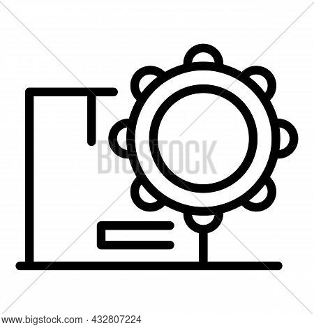 Industry Mass Production Icon Outline Vector. Factory Process. Assembly Machine