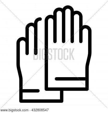 Gynecologist Gloves Icon Outline Vector. Doctor Exam. Woman Examination