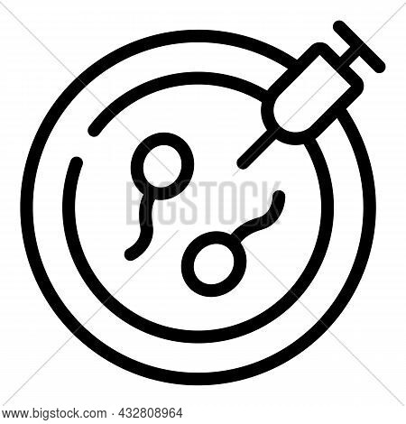 Artificial Fertilization Icon Outline Vector. Vitro Fertility. Reproductive System