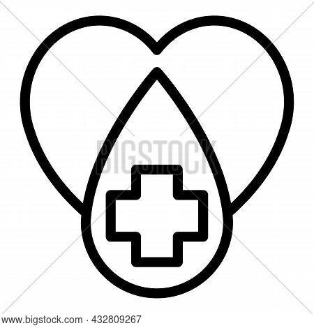 Heart Treatment Icon Outline Vector. Cardio Medicine. Health Capsule