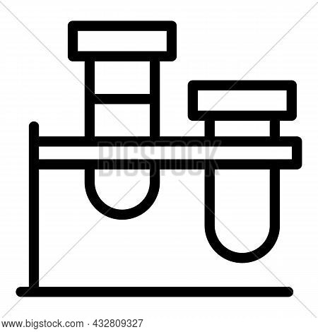 Clinical Testing Icon Outline Vector. Medical Lab. Tested Medicine