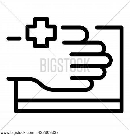 Health Examination Icon Outline Vector. Patient Healthcare. Body Checkup