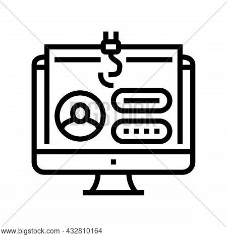 Password Security System Line Icon Vector. Password Security System Sign. Isolated Contour Symbol Bl