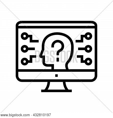 Encrypt Security System Line Icon Vector. Encrypt Security System Sign. Isolated Contour Symbol Blac