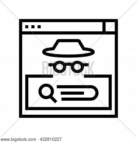 Confidential Security System Line Icon Vector. Confidential Security System Sign. Isolated Contour S