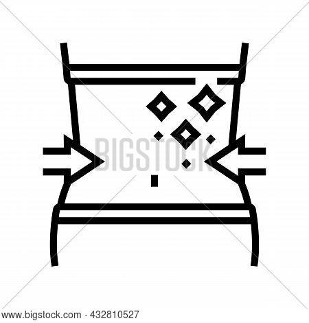 Thin Waist Athlete Line Icon Vector. Thin Waist Athlete Sign. Isolated Contour Symbol Black Illustra