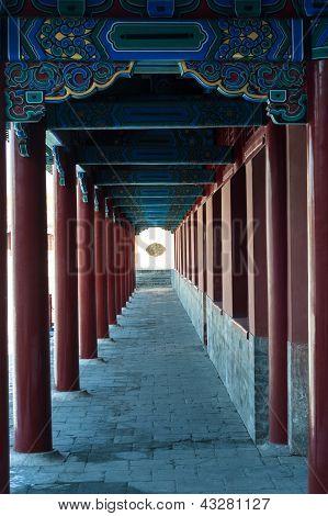 Porch Columns In Forbidden City
