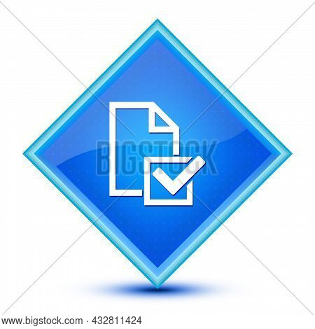 Survey(checklist Icon) Icon Isolated On Special Blue Diamond Button Abstract Illustration