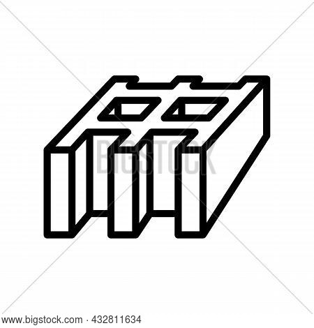 Safety Grating Metal Line Icon Vector. Safety Grating Metal Sign. Isolated Contour Symbol Black Illu
