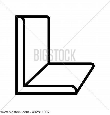 Angle Metal Profile Line Icon Vector. Angle Metal Profile Sign. Isolated Contour Symbol Black Illust